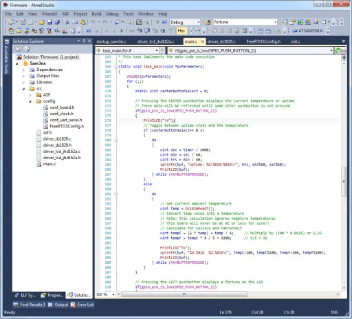 Developing firmware in Atmel Studio is a breeze!