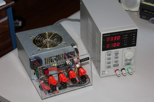 My old power supply next to the new one