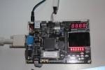 FPGA board with Altera Cyclone II on it