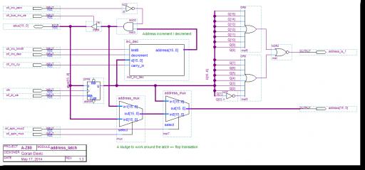 A-Z80 CPU address latch
