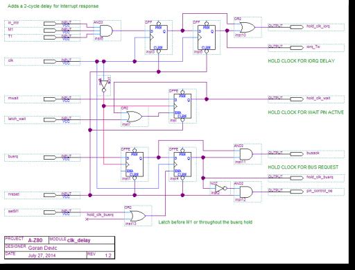 A-Z80 CPU clock delay